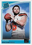 Baker Mayfield 2018 Donruss Short Printed Mint RATED ROOKIE Card #303 Picturing this Top NFL Draft Pick in his White Cleveland Browns Jersey