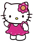 Hello Kitty wearing pink dress white dots Heat Iron On Transfer for T-Shirt ~ Sanrio