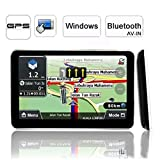 giftsbox: 5 inch Car GPS Navigator Bluetooth FM MP3 AV-IN with 4GB load 3D Map CE6.0 HD Touchscreen