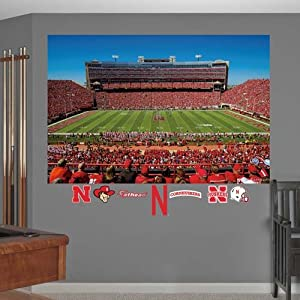 NCAA Nebraska Cornhuskers 50-Yard Line Stadium Mural Wall Graphic by Fathead