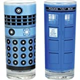 Glasses set of 2 - Dr Who (Dalek and Tardis)