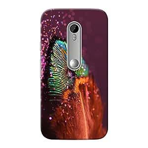 Inkif Printed Designer Case For Motorola G3 (3Rd Generation) Multi-Coloured