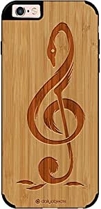 DailyObjects Melody Of Swans Real Wood Bamboo Case For iPhone 6