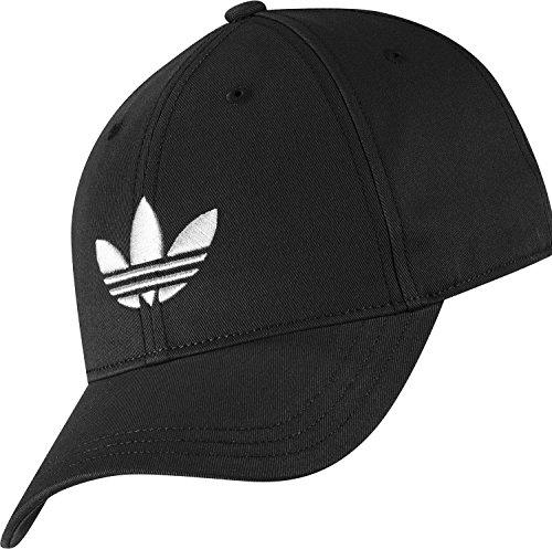 Adidas Trefoil Cap Cappellino Unisex, Nero/Bianco (Aj8941-Nero/Bianco), Osfw