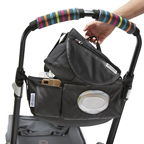 CityStroll 2-in-1 Stroller Organizer /Caddy & Take with You Shoulder Bag, Black