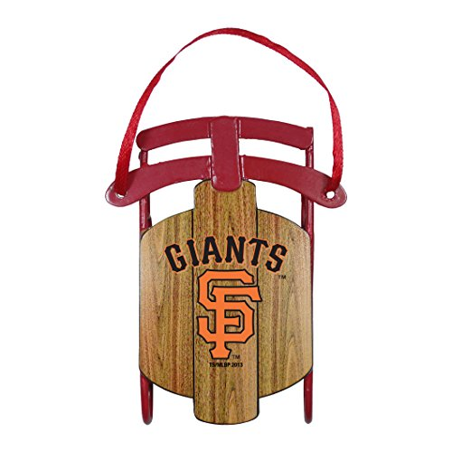 San Francisco Giants Official MLB 3.5 inch Metal Sled Christmas Ornament