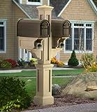 Mayne Rockport Plastic Double Mailbox Post