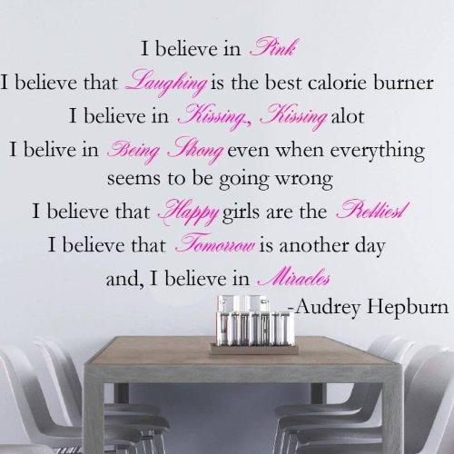 great price audrey hepburn i believe in pink i believe