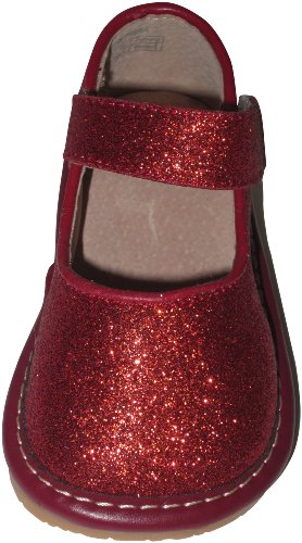 Squeaky Shoes Baby Girls' Red Mary Janes 7 Us front-43143
