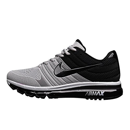 0beb2001efaa Buy Nike s Men s Air Max 2017 Running Shoe New Collection Black White on  Amazon