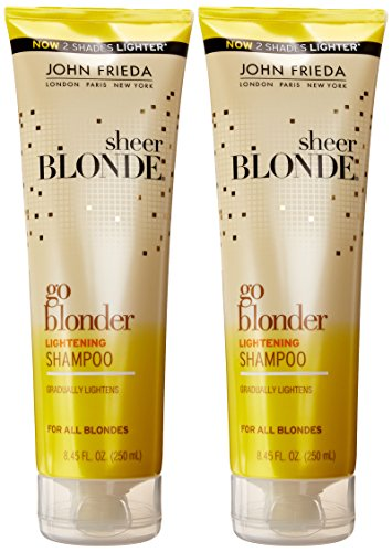 john frieda sheer blonde go blonder lightening shampoo fluid ounce pack of 2 apparel. Black Bedroom Furniture Sets. Home Design Ideas