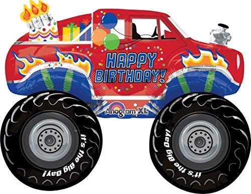 "Anagram International Happy Big Birthday Balloon, 31"", Multicolor"
