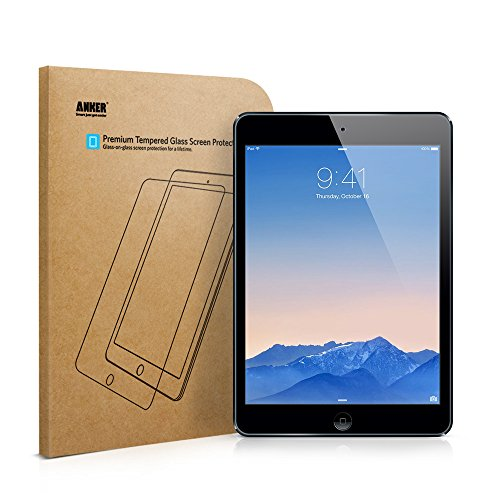 iPad Air Glass Screen Protector, Anker Premium Tempered Glass Screen Protector for iPad Air / iPad Air 2 with 9H Hardness and Easy Installation [Lifetime Warranty]