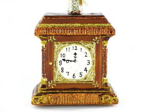 Old World Christmas Mantle Clock Ornament