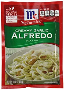 McCormick Pasta Sauce Blend, Creamy Garlic Alfredo, 1.25 Ounce Unit (Pack of 12)