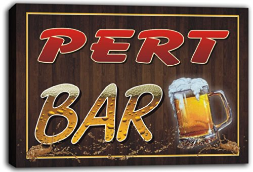 scw3-050975-pert-name-home-bar-pub-beer-mugs-stretched-canvas-print-sign