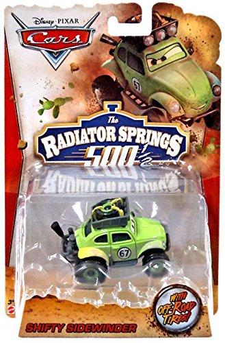 PIXAR CARS #67 THE RADIATOR SPRINGS 500 1/2 OFF ROAD SHIFTY SIDEWINDER VW BEETLE DIE-CAST