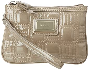 Nine West Go To Glamour Patent Small Wristlet Wallet,Paris Mushroom,One Size