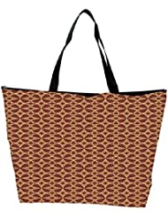 Snoogg Abstract Brown Patern Design Designer Waterproof Bag Made Of High Strength Nylon