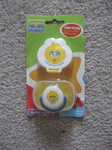 Sesame Beginnings - Big Bird Pacifier with Holder