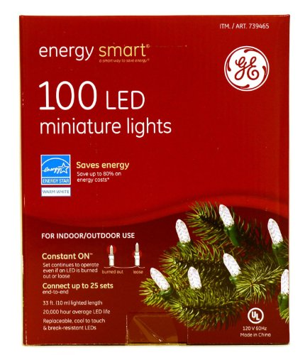 Ge Energy Smart Mini White Led Lights 100 Count