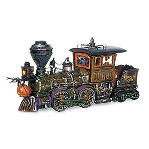#!Cheap Department 56 Snow Village Halloween Haunted Rails Engine