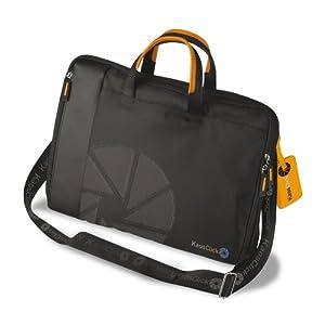 KAOS CLICK NON STOP Sac à main bandoulière pour ordinateur portable - Matériel: Nylon avec pièces en faux cuir