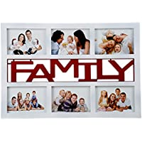 Priya Collections Glass 6-in-1 Collage Photo Frame With Frame (44 Cm X 30 Cm X 3 Cm, White)