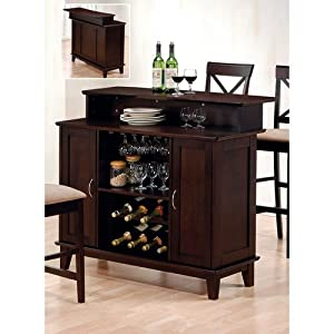 Coaster contemporary style solid wood bar unit for Wooden bar unit