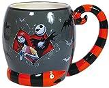 16 Ounce Nightmare Before Christmas Jack And Sally Snake Mug
