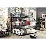 Furniture of America Maggie Twin Over Full Over Queen Triple Bunk Bed