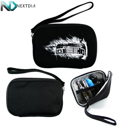Portable Thin Vape Case suitable for G Pen Herbal Vaporizer Grenco Snoop Dogg |Ice Black Retro Brick Cellphone Print| + Removable Hand Strap + NextDIA Cable Organizer (X Pen Pro Vaporizer compare prices)