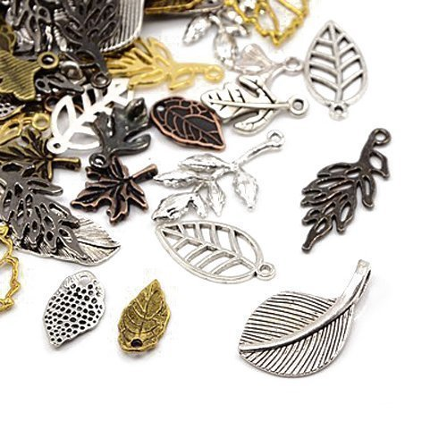 pack-of-30-grams-mixed-tibetan-random-shapes-sizes-charms-leaf-ha06670-charming-beads