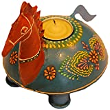 Jodhpur Summers Iron Horse-Shaped Candle Holder (8.5 X 6.5 X 6 Inches)