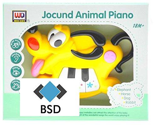 Interattivo pianoforte - cagnolino - bambini - sembra suono - giallo