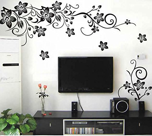 Popular Flowers Wall Sticker Wall Mural Home Decor Room Decor Kids Room HG-0275