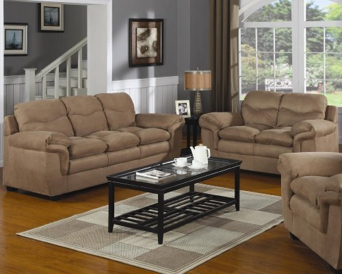 Buy Low Price AtHomeMart 2PC Casual Upholstered Sofa and Loveseat Set (COAS502091N_502092N_2PC)