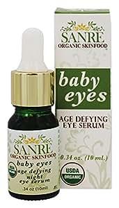 SanRe Organic Skinfood SanRe Organic Skinfood Baby Eyes USDA Organic Age Defying Night Eye Serum For Delicate Eye Area