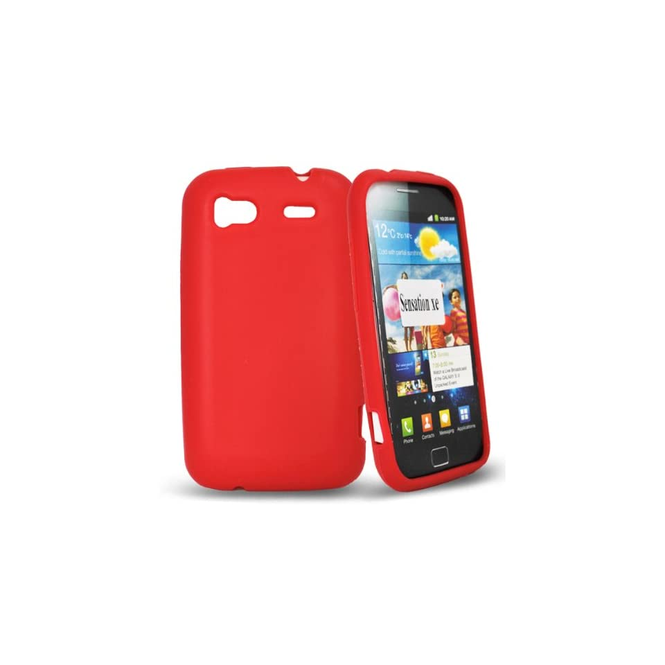 Mobile Palace  Red silicone case cover for htc sensation xe