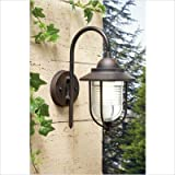 Leds C4 Outdoor Lighting Sirena Wall Light, Transparent Glass, Rusted/ Oxide Brown