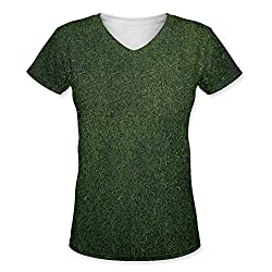 Snoogg Abstract Colorful Textures Womens Casual V-Neck All Over Printed T Shirts Tees