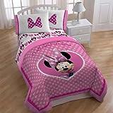 Disney Minnie Mouse 'Cute Bows' Full 5PC Comforter Set w/Plush Reverse