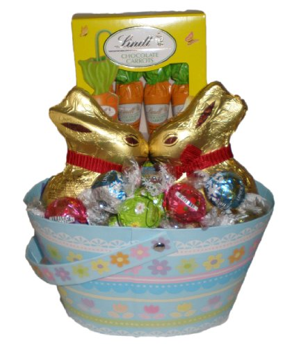 Kissing Bunnies Chocolate Lovers Gift Basket