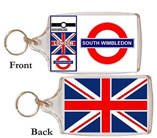 Schlüsselring South Wimbledon Geschenk Tourist Souvenir Mit Englisch Wörter
