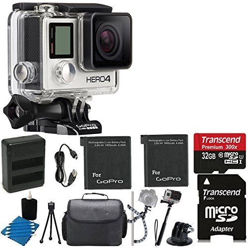 GoPro-HERO4-SILVER-Edition-Camera-HD-Waterproof-Camcorder-With-Built-In-Touch-Screen-With-2-Replacement-Lithium-Ion-Batteries-Dual-Battery-Charger-Deluxe-Carrying-Case-Tripod-Gripster-Monopod-HDMI-to-