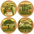 Thirstystone Stoneware Coaster Set, Tuscany A/4