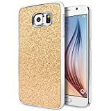 Galaxy S6 Case, Cimo [Glitz] Premium Glamour Glitter Bling Hard Case for Samsung Galaxy S6 (2015) - Gold