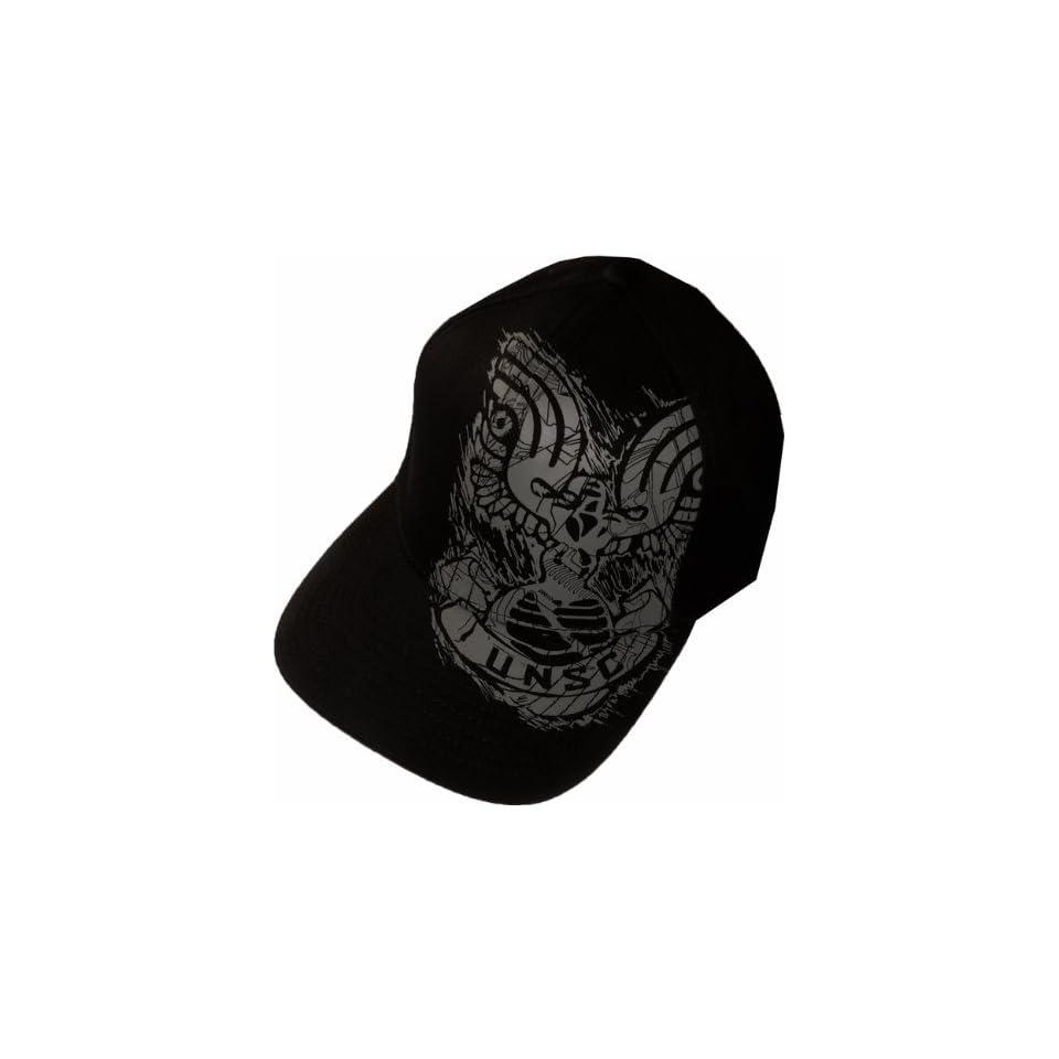 cc034fbef1713 Halo UNSC Logo Black Grey Flexfit Hat Cap on PopScreen