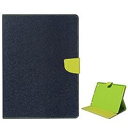 DMG Premium Fancy Textured Wallet Diary Case for Apple iPad Mini (Pebble Blue)