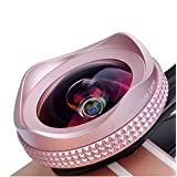 Apexel iPhone Lens, 16mm Wide Angle Camera Lens with CPL Filter Lens Kit for iPhone 7/7 Plus 6/6s 6Plus/6s Plus Samsung Galaxy S7/S6 Most Andriod Smartphones (No Dark Circle)-Pink
